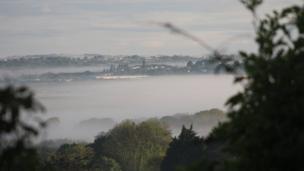 Llangefni in mist