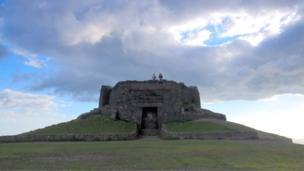 The Jubilee Tower at the top of Moel Famau in Flintshire