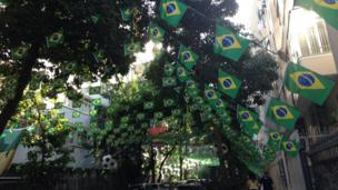 Streets are once again decorated and street parties take place all over Brazil on match day