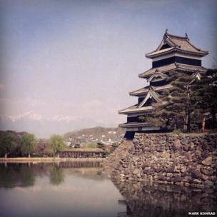 Mount Fuji from a bullet train in Japan