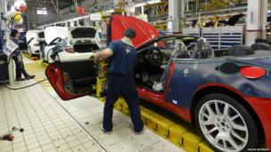 Maserati production line
