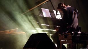 Keaton Henson performs at the Meltdown festival in London, 16 June 2014