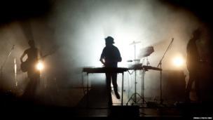 Copenhagen-based musician and producer Anders Trentemoller performs in London on 17 June 2014