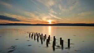 Sun setting over the Black Isle