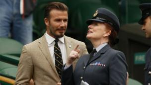 Beckham at Wimbledon