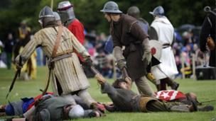 Scene from re-enactment of Battle of Bannockburn