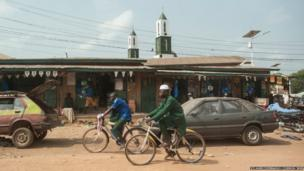 Town of Gueckedou in Guinea