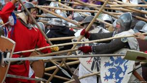 The Battle of Bannockburn re-enactment