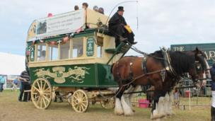 It was not just engines taking part in the shows, as The Lizard Stallions' shire horses demonstrated
