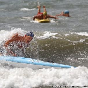Lifeguards compete in the South Atlantic Lifesaving Association