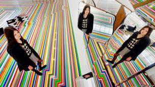 Sasha Panyuta views work by artist Jim Lambie on show at The Fruitmarket Gallery in Edinburgh