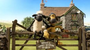 Shaun the Sheep and Blitzer the sheepdog