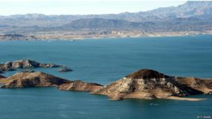 Lake Mead, Nevada, at record lows after drought