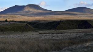 View across the Brecon Beacons