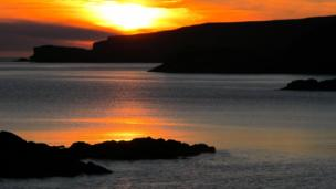 Sunset over the Isle of Handa
