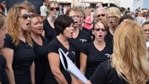 The Culdroses choir. Pic: Kevin Thomas