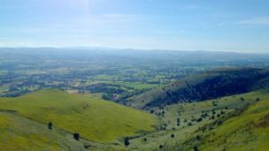 The Vale of Clwyd as seen from Moel Famau