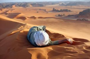 A Well Earned Rest in the Sahara by Evan Cole