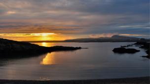Trearddur Bay at sunset