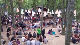 The Hidden Wood stage