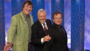 On the Michael Parkinson show with actor, writer and comedian Stephen Fry