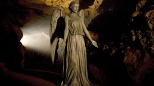 a Weeping Angel in a cave.