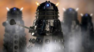 a group of Daleks