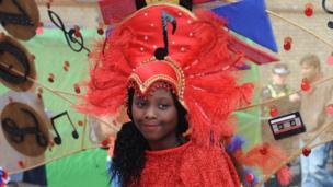Girl at Notting Hill Carnival
