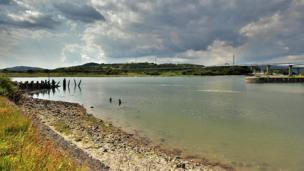 The old break water at Briton Ferry