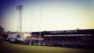Y Gnoll, cartref Castell Nedd, clwb rygbi hynaf Cymru // The Gnoll. Neath RFC was formed in 1871 making it the oldest club in Wales