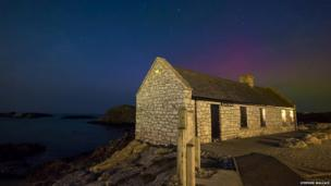 Northern lights at Ballintoy