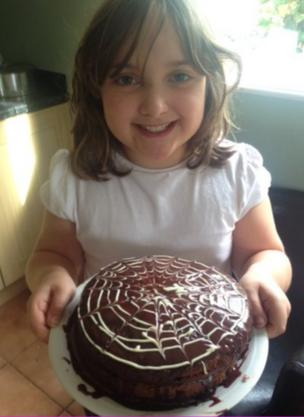 Clemmie and her chocolate cobweb cake