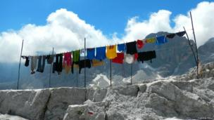 Laundry in the Dolomites