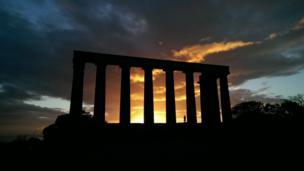 Sunrise on Calton Hill