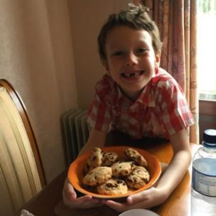 Ralph with his scones