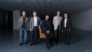 Neil Shen, centre, is one of China's leading investors and entrepreneurs