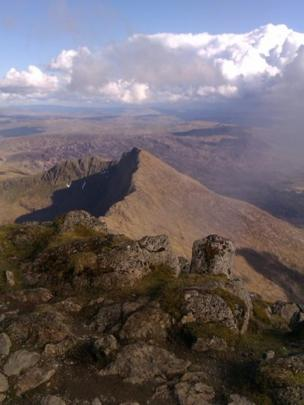 The view from Snowdon's summit.