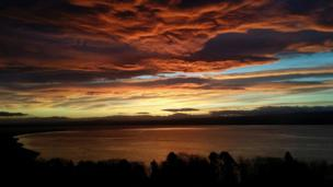 Sunrise over the Moray Firth