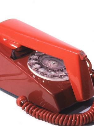 Ffôn modern o'r oes // A cutting edge, modern 1970s phone