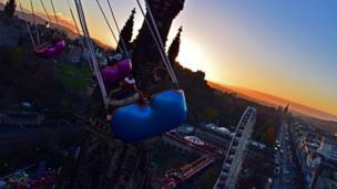 Carousel ride in Edinburgh