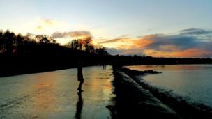 Sunset over Cramond