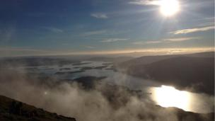 View from Ben Lomond
