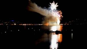 Fireworks in Oban
