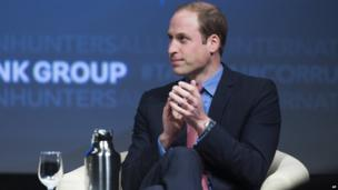 Prince William at the International Corruption Hunters Alliance event