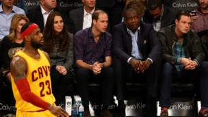 Prince William and Catherine watch basketball