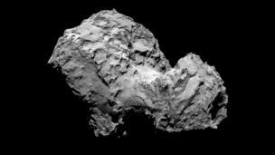 Comet 67P/Churyumov-Gerasimenko by Rosetta's OSIRIS narrow-angle camera on 3 August from a distance of 285km.