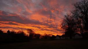 Sunrise over Kilconquhar Castle Estate