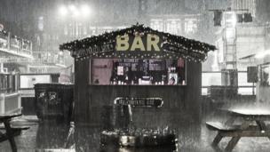 Bar in George Square rain
