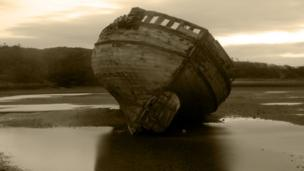 Boat in Dulus Bay, Anglesey