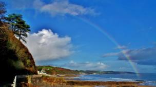 A rainbow over Wisemans Bridge